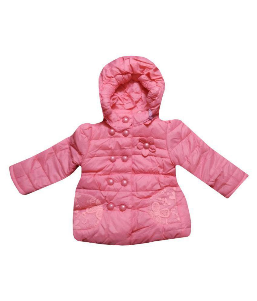 Assent Store Girls Baby Pink Quilted Jacket