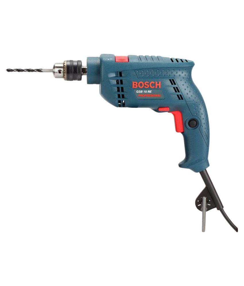 Bosch - GSB 10 RE Drill Machine 500W 9 mm Corded: Buy ...