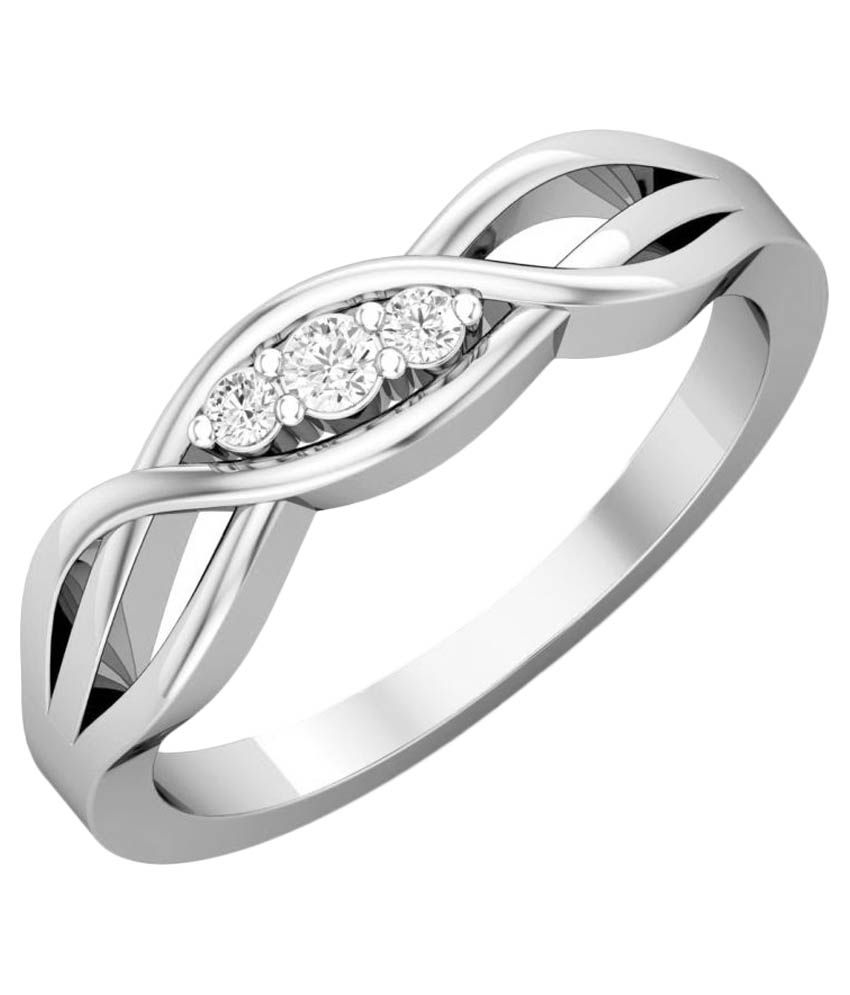 Carrydreams 92.5 Silver Diamond Ring