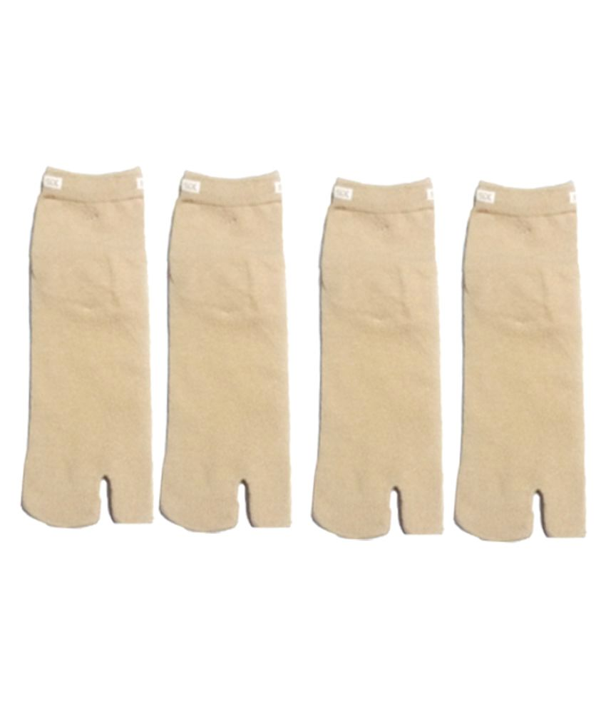 86e136198 Royal socks ankle cotton skin color thumb socks for women -pack of 4  Buy  Online at Low Price in India - Snapdeal