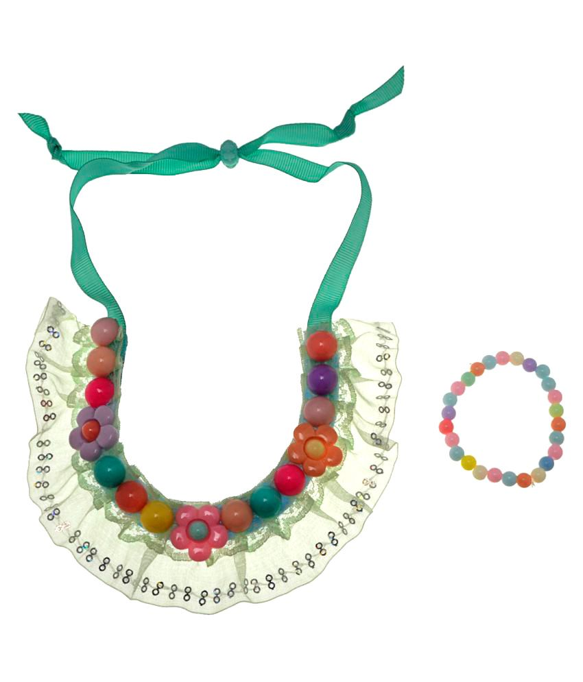 The Ethnic Wears Multicolour Necklace with Bracelet
