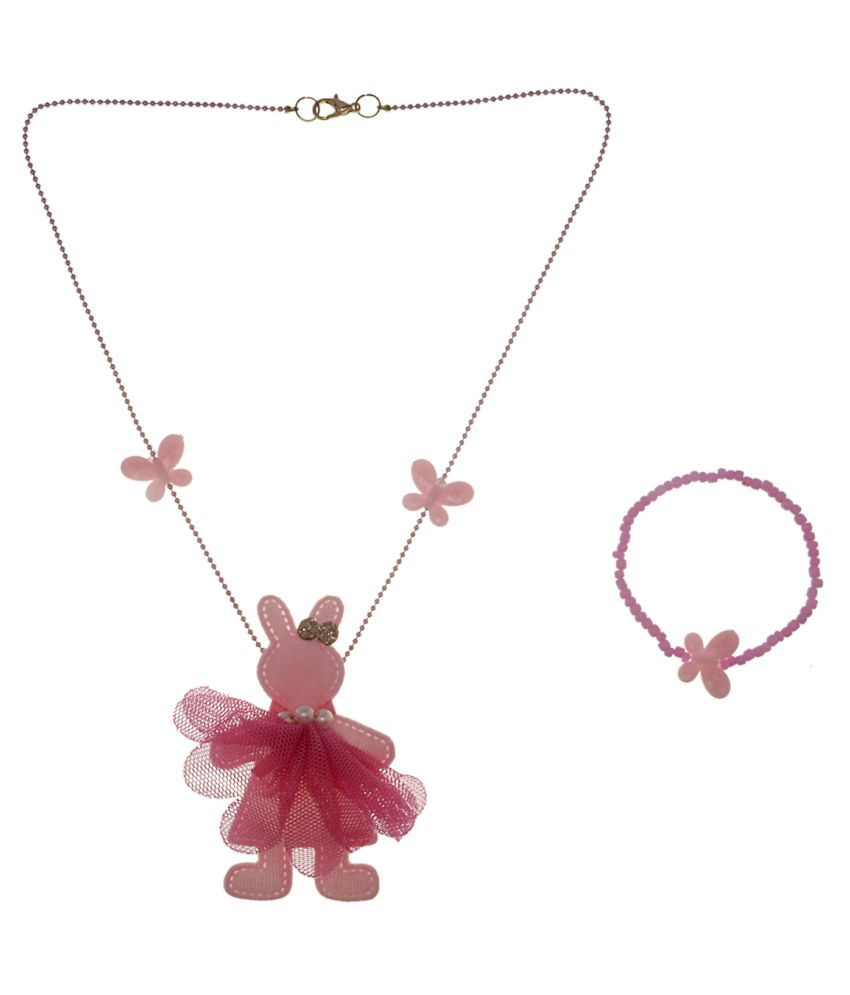The Ethnic Wears Pink Kids Jewellery Combo
