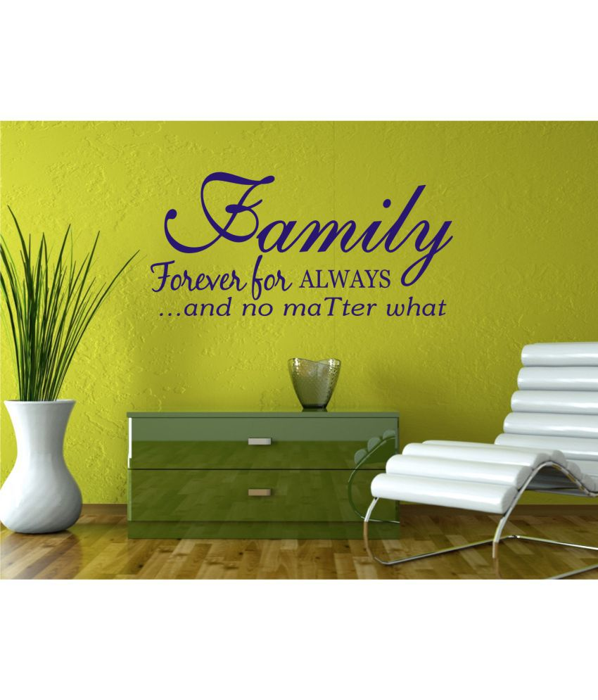Wall Guru Family Quotes Small Blue Vinyl Wall Stickers