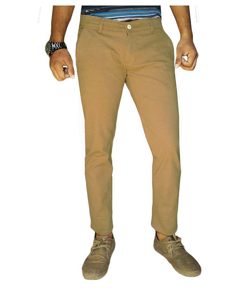 Oiin Brown Slim Flat Trouser