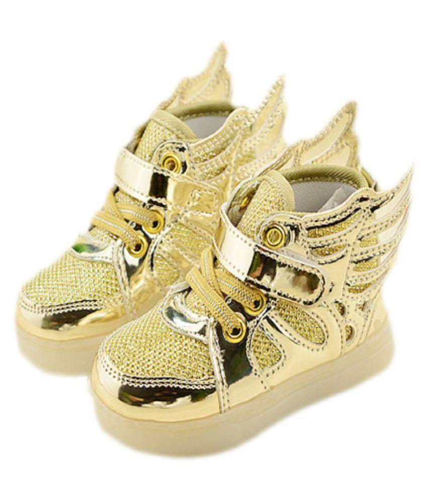 Kidslounge Boys Golden Wings Led Shoes