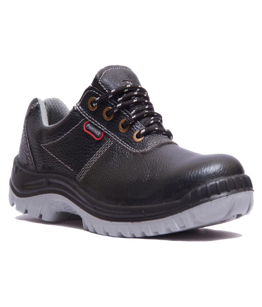 Hillson Mid Ankle Black Safety Shoes