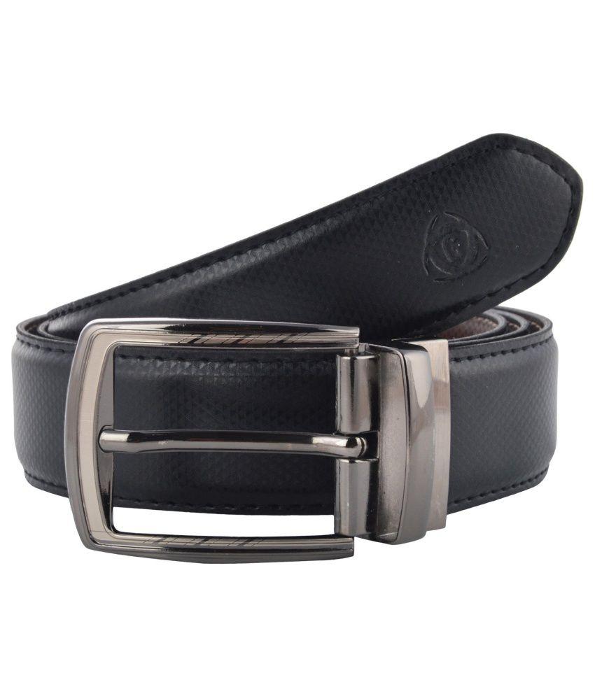 Garvan Black & Brown Leatherite Formal Reversible Belt For Men