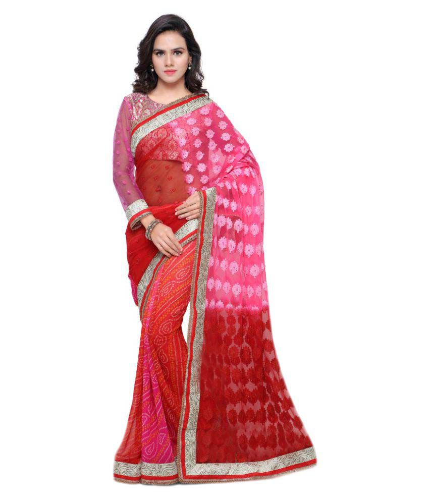 Triveni Multicoloured Georgette Saree