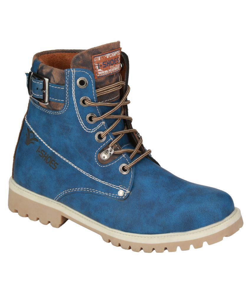 Wave Walk Blue Casual Boot