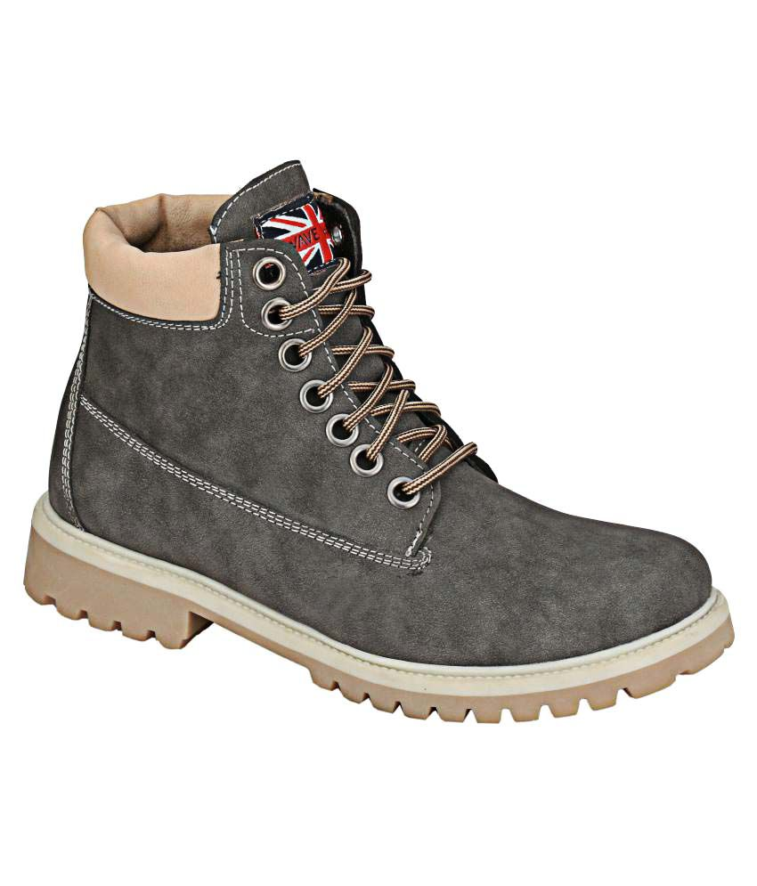 Wave Walk Gray Casual Boot