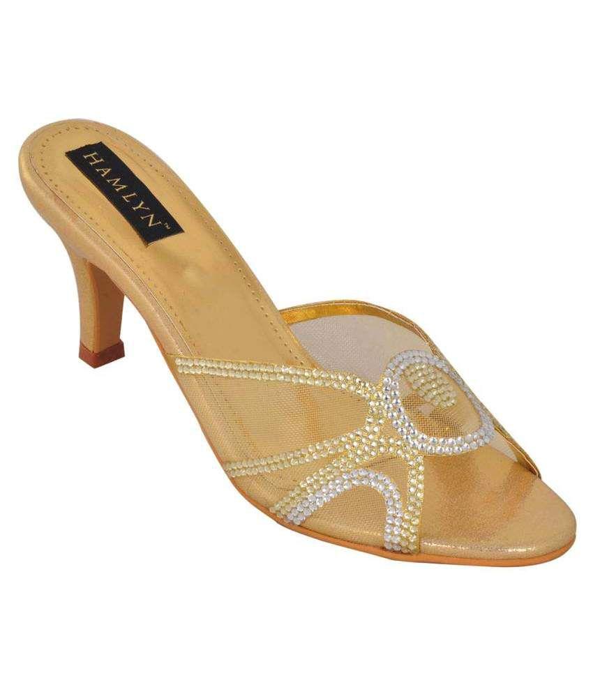 Hamlyn Shoes Gold Stiletto Heels