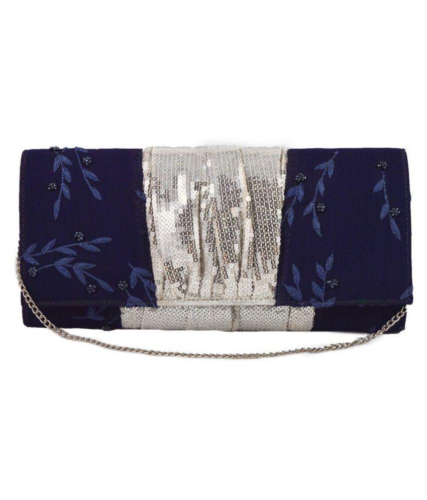 Jiwan Multi Fabric Box Clutch