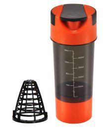 Sobo Orange Shaker Bottle Tablet Storage And Protein Storage