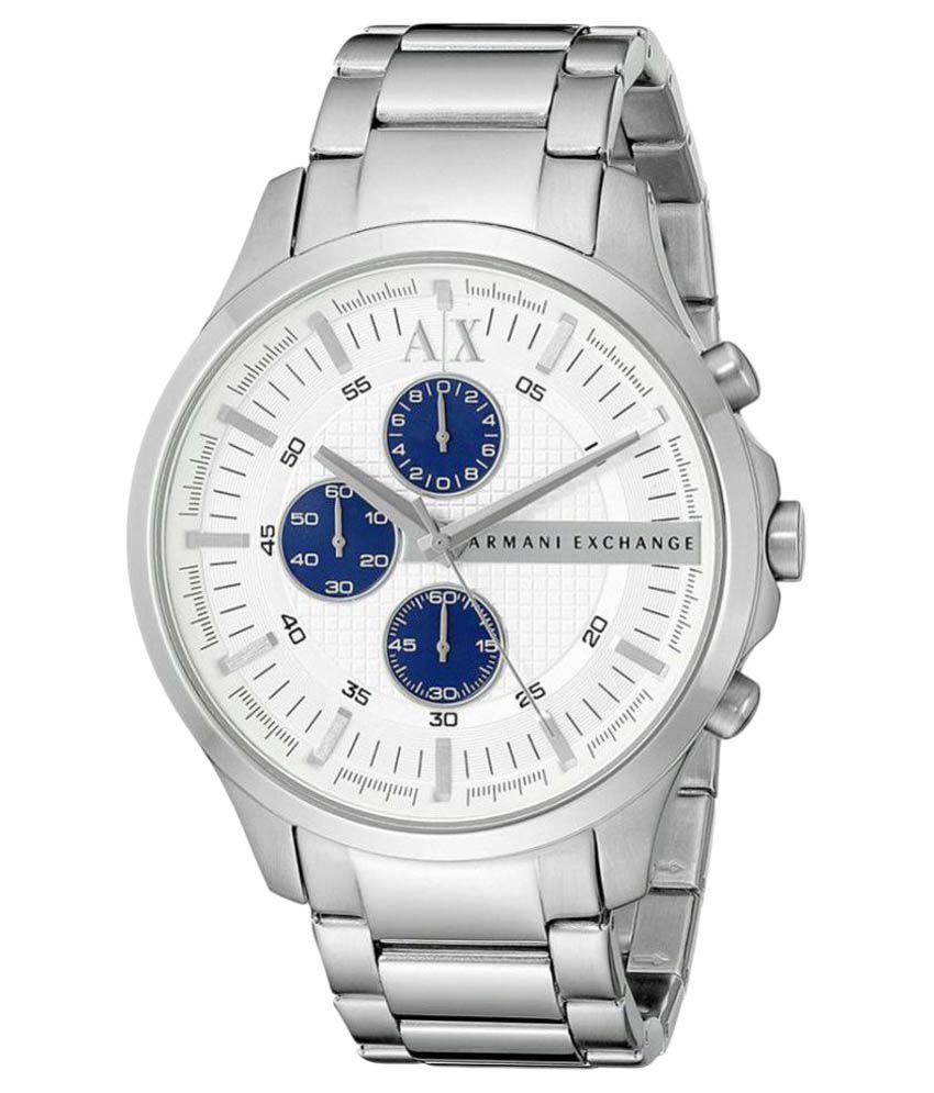 25d30974f582 Armani Exchange Hampton Analog White Dial Men s Watch - AX2136 - Buy Armani  Exchange Hampton Analog White Dial Men s Watch - AX2136 Online at Best Prices  in ...