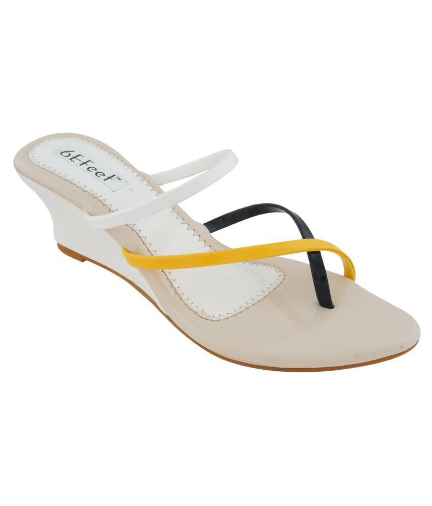 6eFeet White Heels
