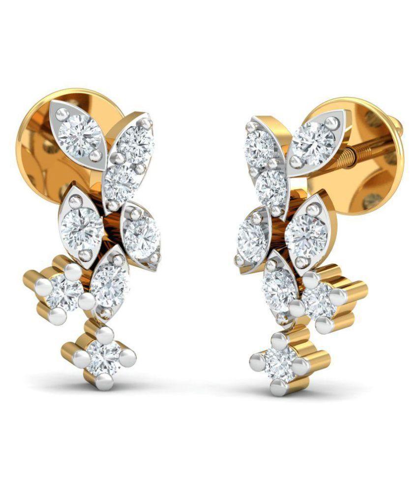 Diamonddad 18k BIS Hallmarked Gold Diamond Studs