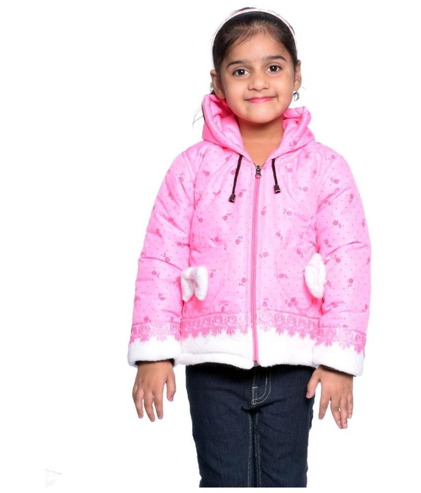 Come In Kids Pink Printed Jacket