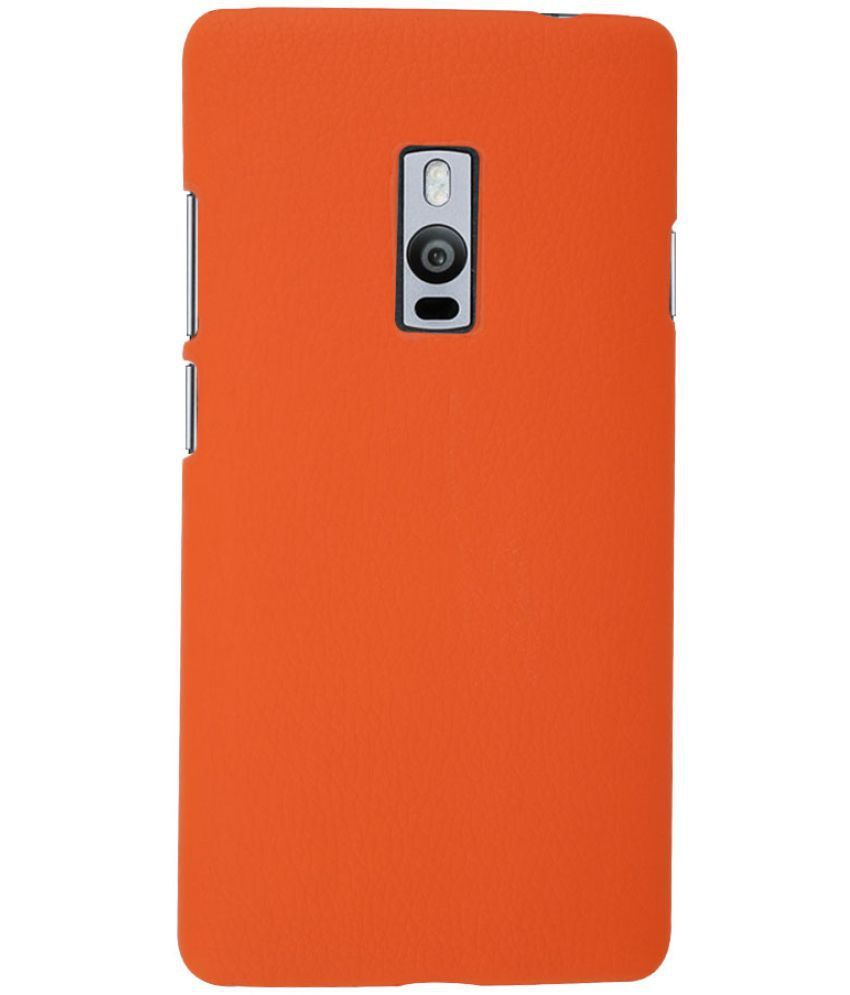best loved 284df 18b3d OnePlus 2 Cover by OWO - Orange - Plain Back Covers Online at Low ...