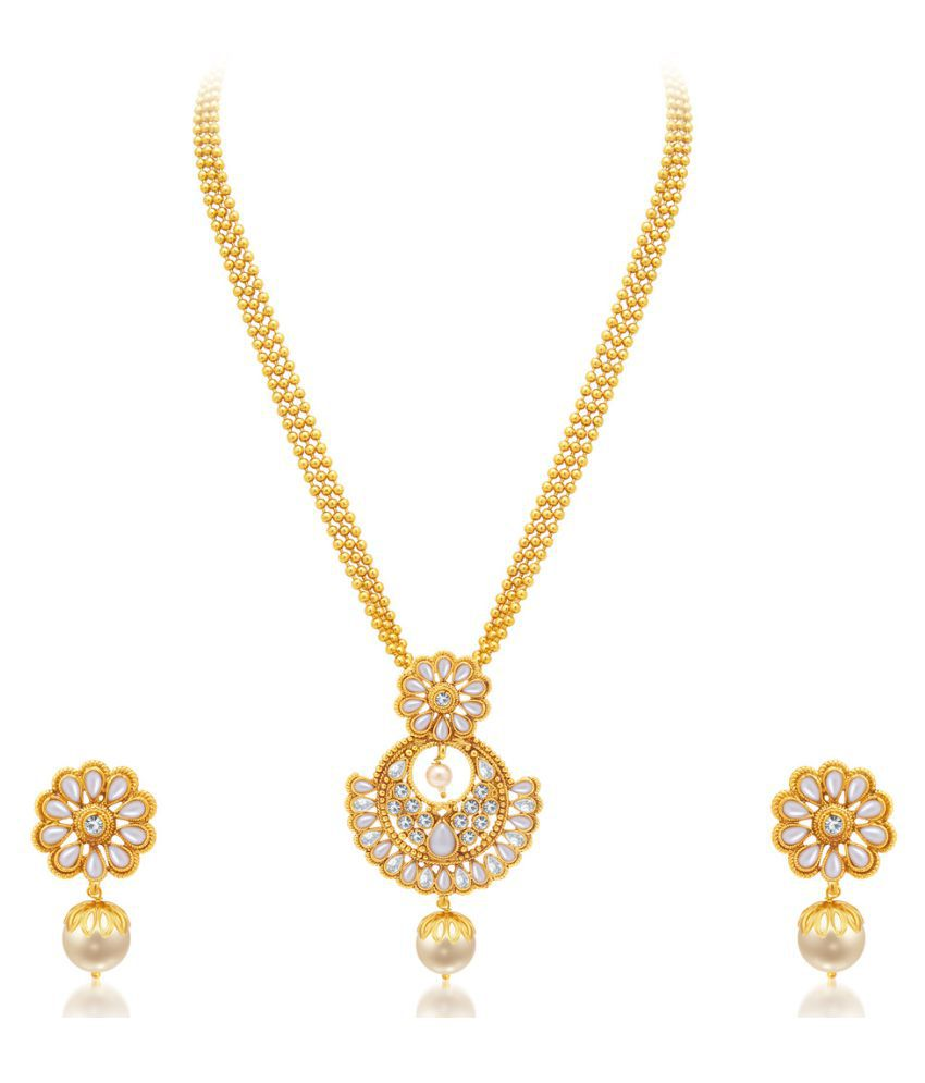 Sukkhi Golden Alloy Necklaces Set