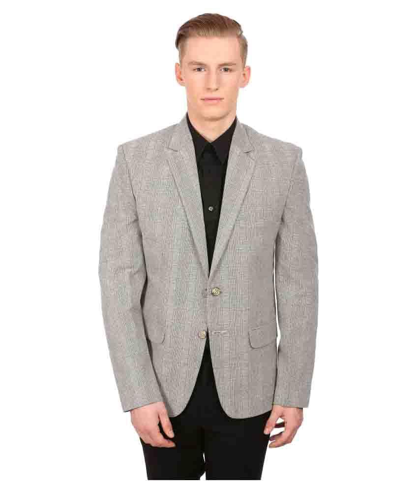 Wintage Grey Checks Casual Blazers No