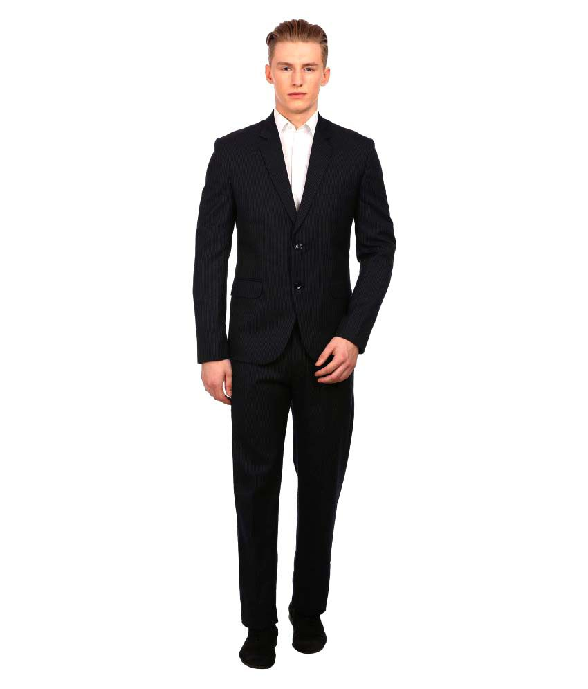 Wintage Navy Striped Party 2 Piece Suits