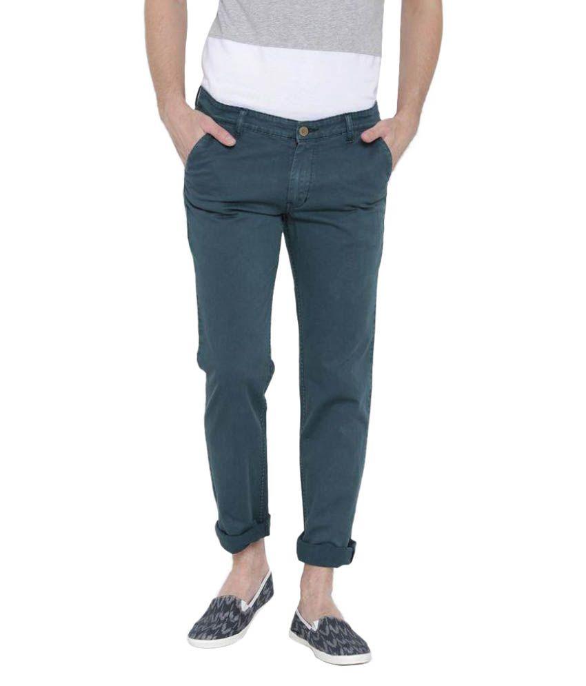 Hubberholme Blue Slim Flat Trouser