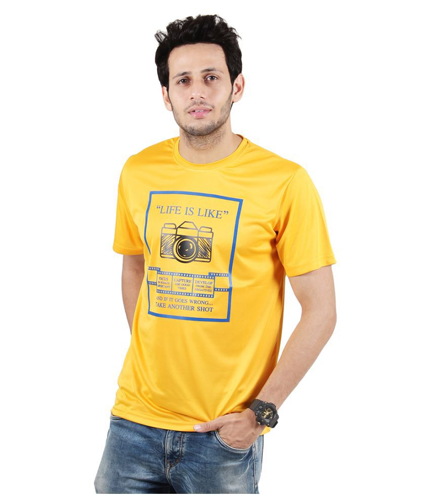 Ssak Yellow Round T-Shirt