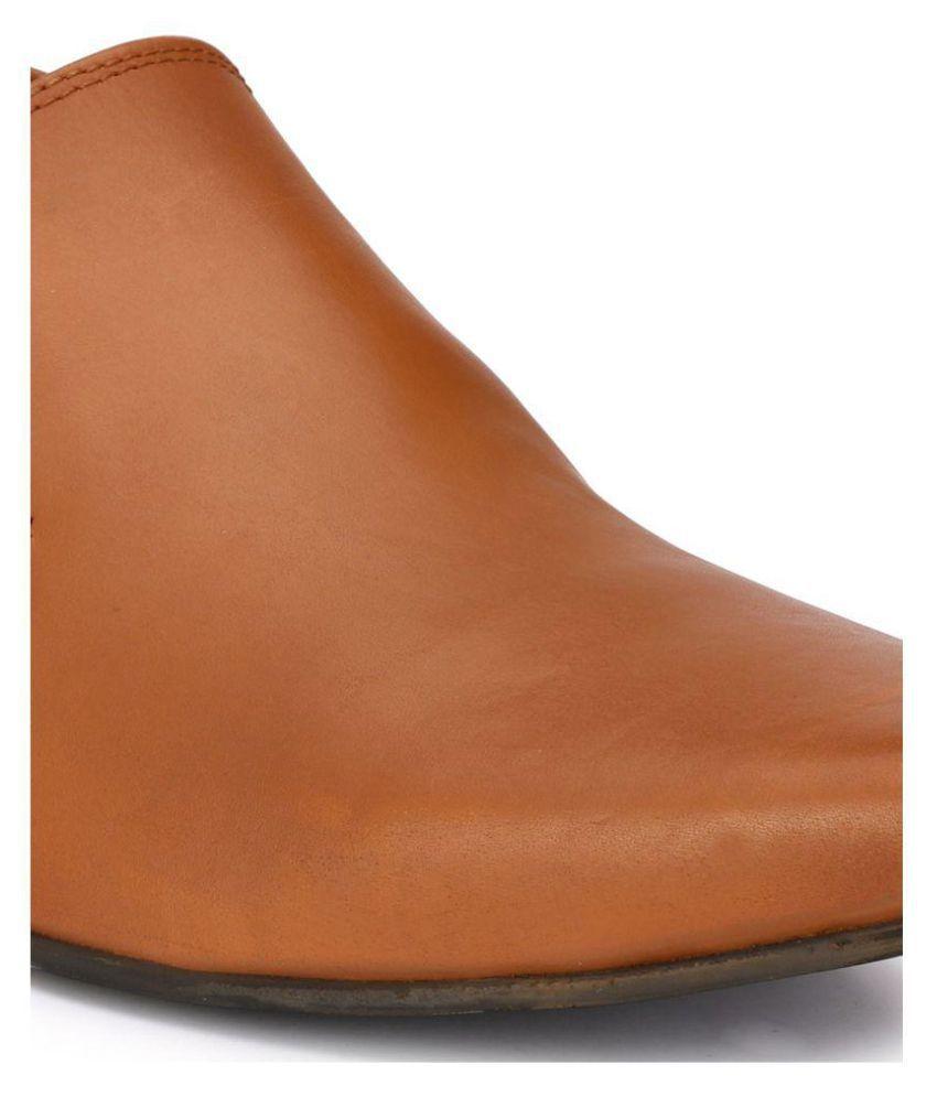 6762fe1b524 Delize Tan Slip On Genuine Leather Formal Shoes Price in India- Buy ...