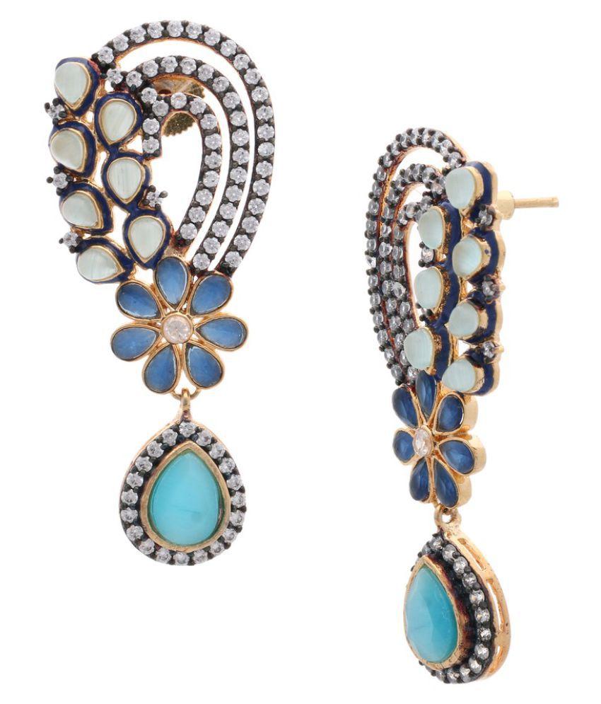 The Jewelbox Multicolour Drop Earrings