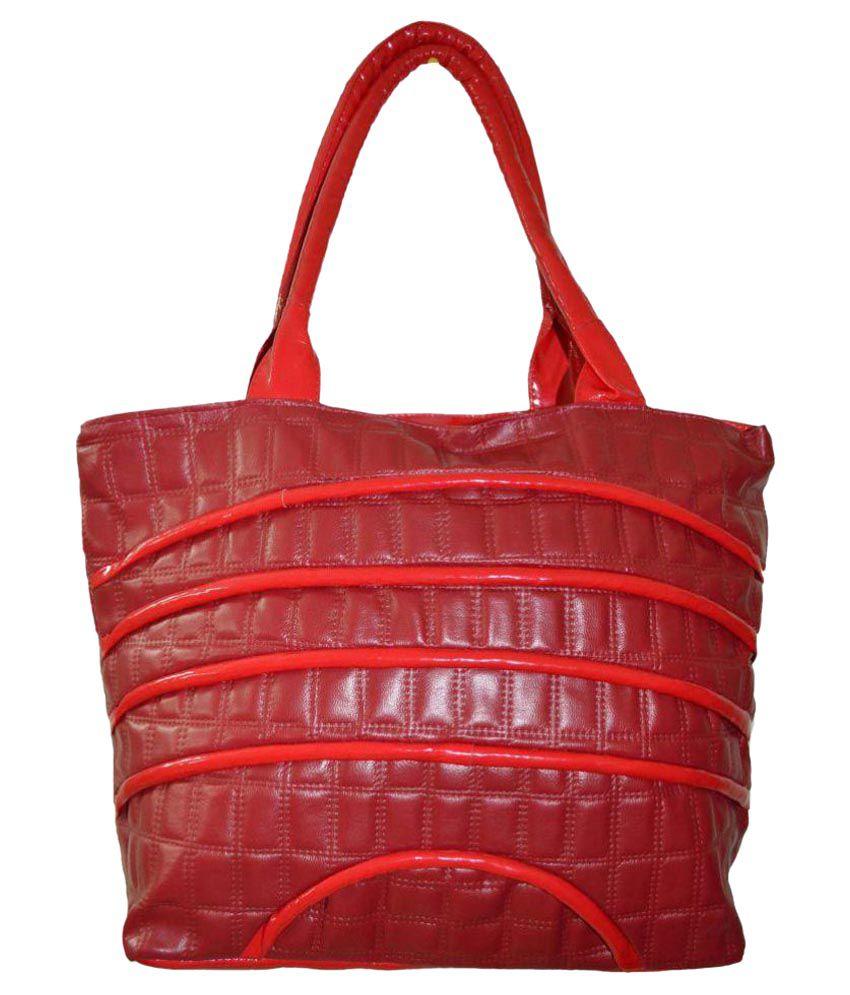 Amber Red P.U. Shoulder Bag
