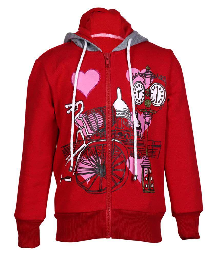 Cool Quotient Red Sweatshirt