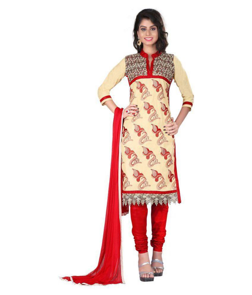 Fashion2wear Multicoloured Cotton Dress Material