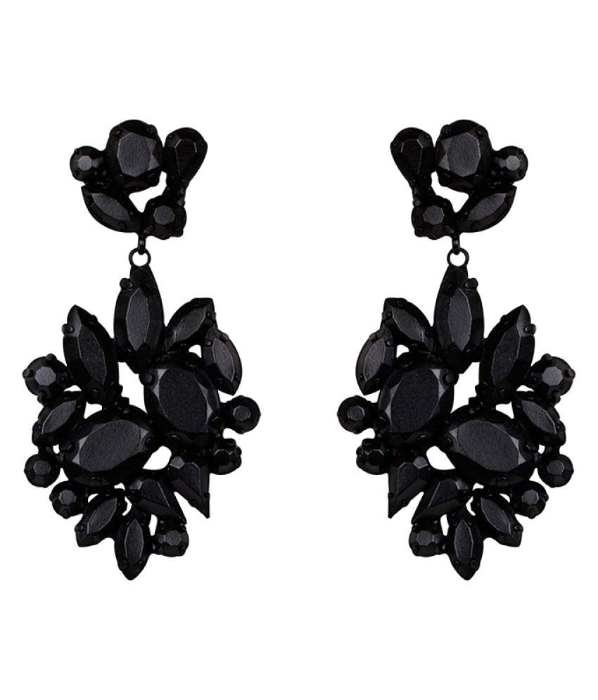 Kazo Black Earrings
