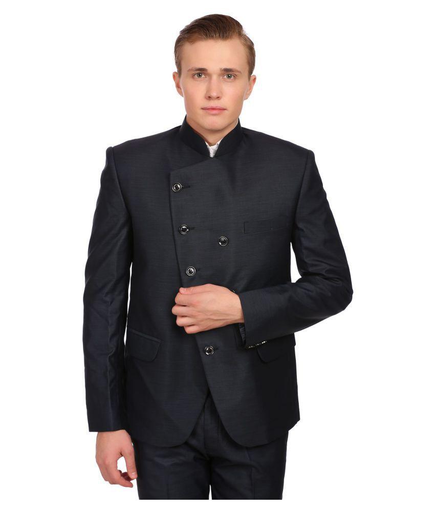 Wintage Black Solid festive 2 Piece Suits No
