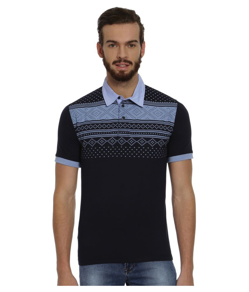 Fitz Navy Cotton Polo T-shirt Single Pack