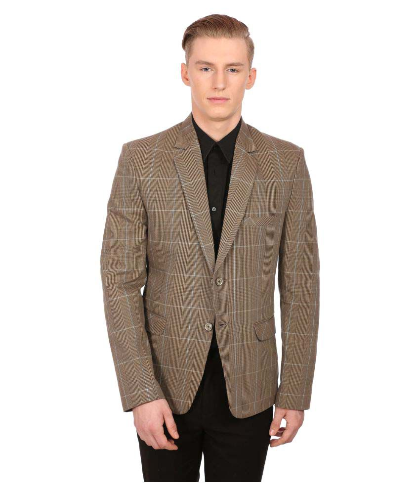 Wintage Brown Checks Party Blazers