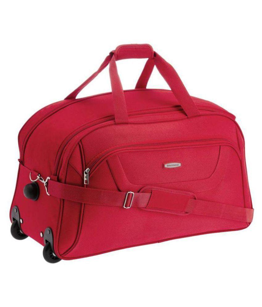 Aristocrat Red Solid Duffle Bag - Buy Aristocrat Red Solid Duffle Bag  Online at Low Price - Snapdeal e2feb5ff3b1c8