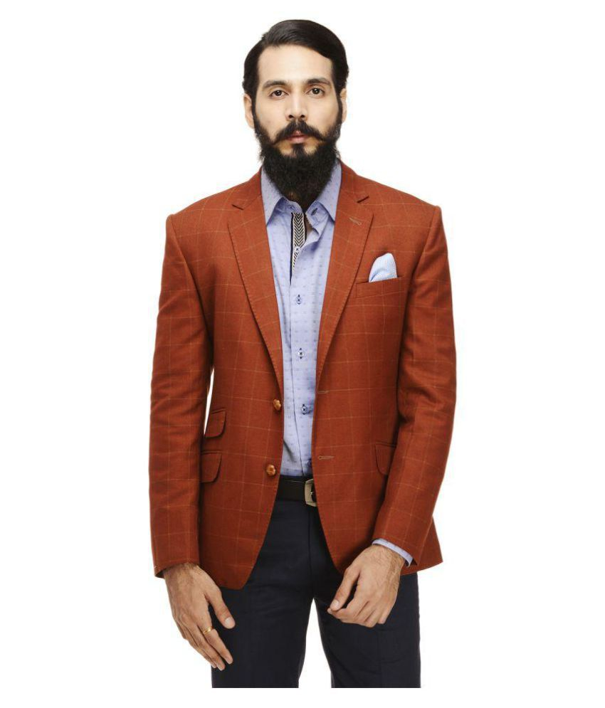 Monteil & Munero Red Checks Casual Blazers