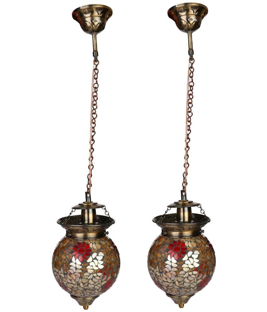 Somil Glass Decorative Pendant Light Pendant Brown - Pack of 2