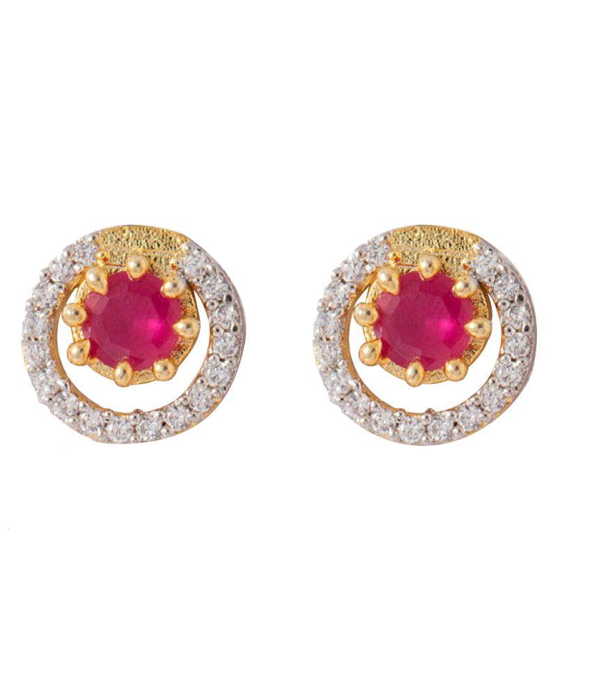 Sunshine Rajasthan Ethnic Designer American Diamond Earring Set