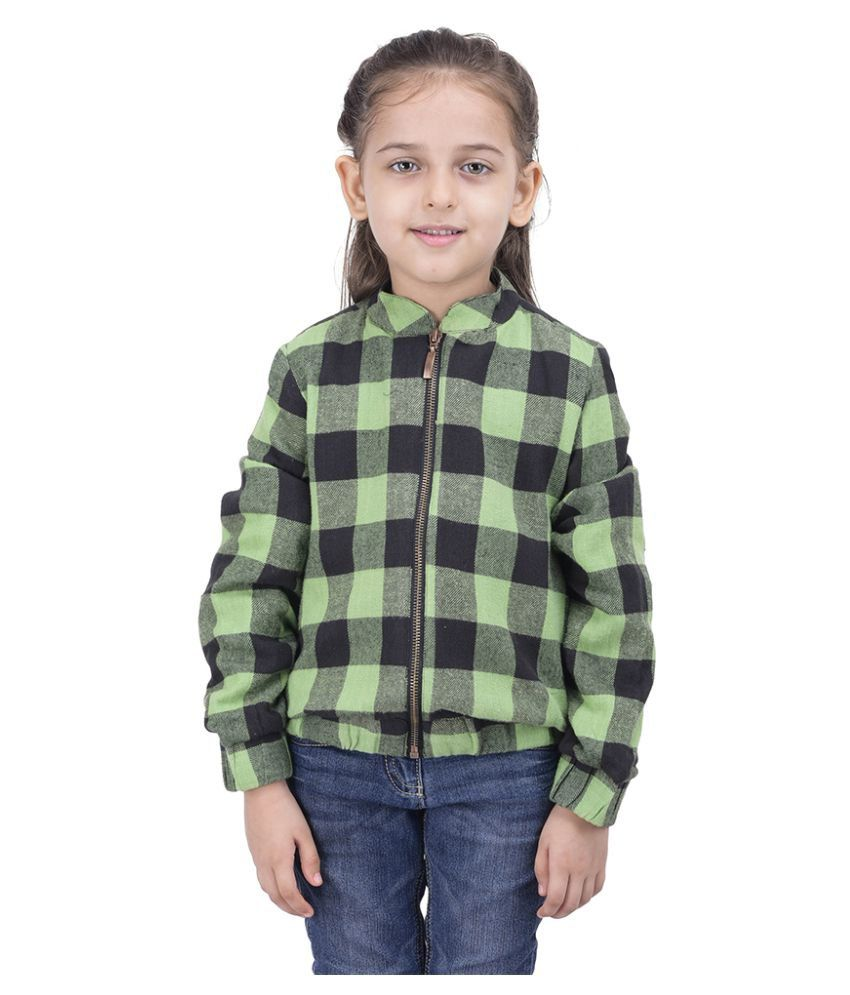 Oxolloxo Green Girls Check Jacket