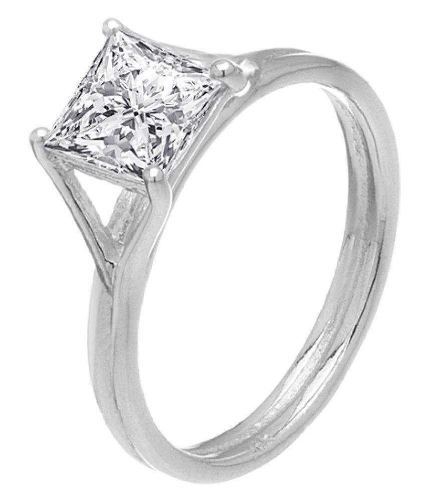 Voylla 92.5 Silver Swarovski Ring