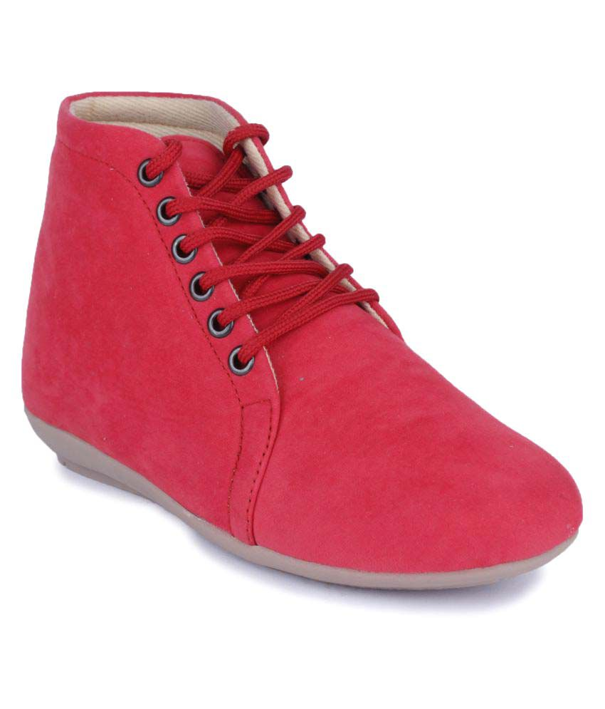 Naisha Pink Ankle Length Bootie Boots