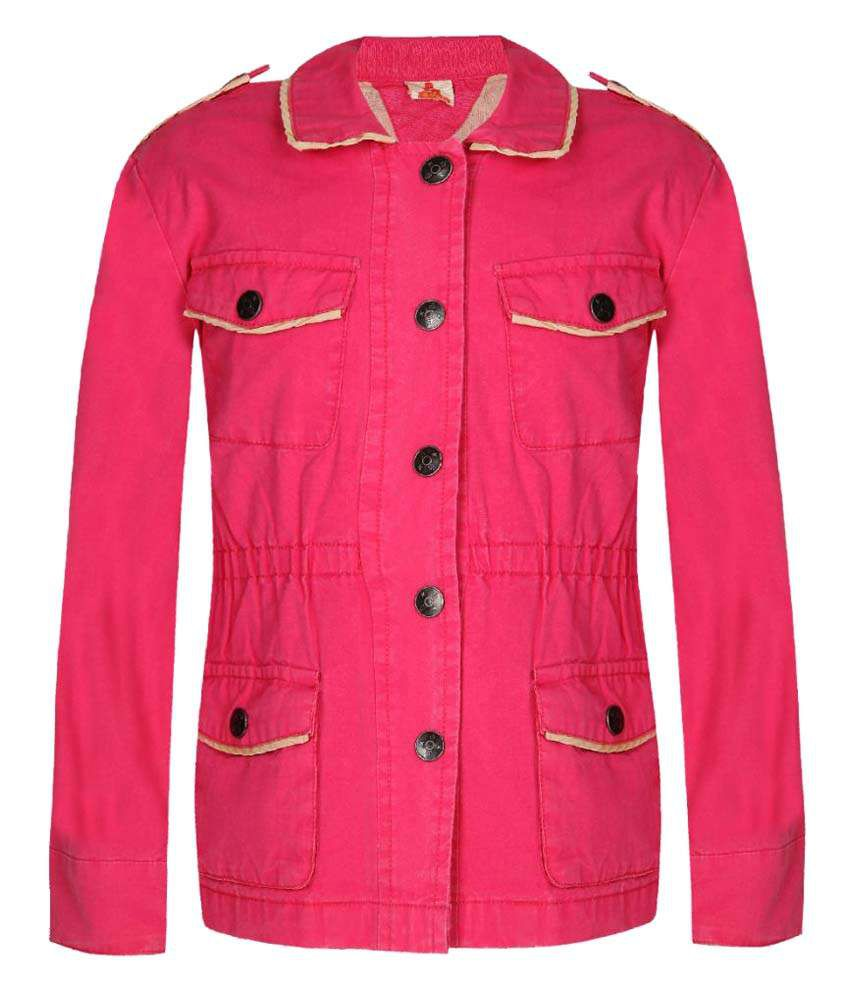 Ufo Pink Buttoned Jacket