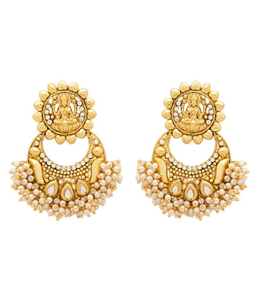 Voylla Golden Color Alloy Earrings