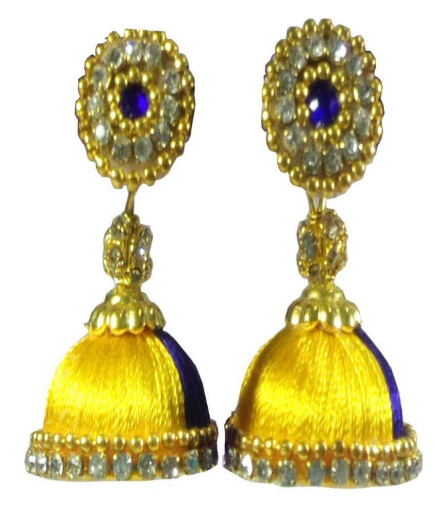 Crp Fashion Silk Thread Ear Rings