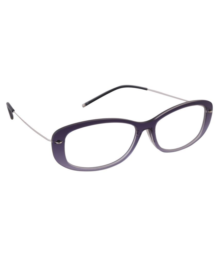 Specs-n-lenses Silver Oval Spectacle Frame 56009