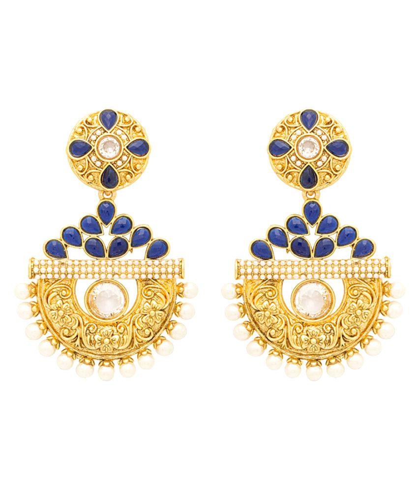 Voylla Women's Ethnic Gold Plated Alloy Earrings