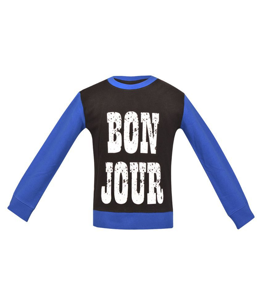 Gkidz Multicolour Fleece Full Sleeve Sweatshirt
