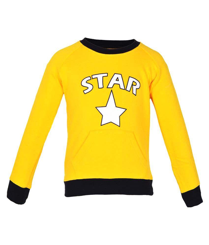 Gkidz Yellow Boys Full Sleeve Sweatshirt
